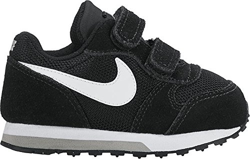 Nike Md Runner 2, Herren Gymnastikschuhe, Schwarz (Black/White-Wolf Grey), 22