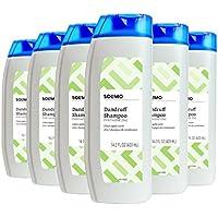 6-Pack Amazon Brand Solimo 2-in-1 Dandruff Shampoo and Conditioner