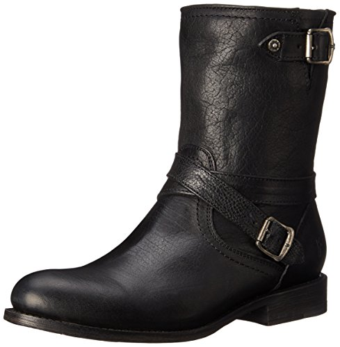 FRYE Women's Jayden Cross Engineer Boot, Black, 7 M US