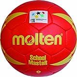 Molten H3X SM Ballon de Handball-Taille 3 Rouge/Jaune