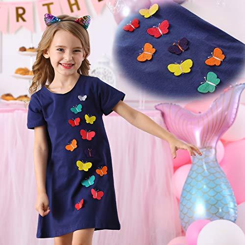 VIKITA Vestido Floral Manga Corta Algodón Niñas 2-8 años JM6808 5T