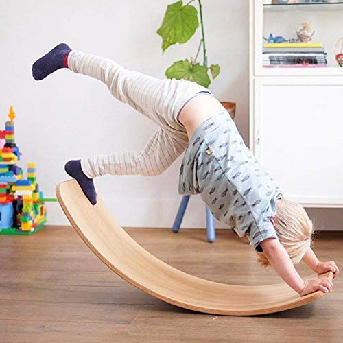 Wobbelboard, Holzbalance Board Für Kinder, Natürliches Holz Balance Board, Yoga Original Wobble Board Zum Üben Des Gleichgewichtssinns