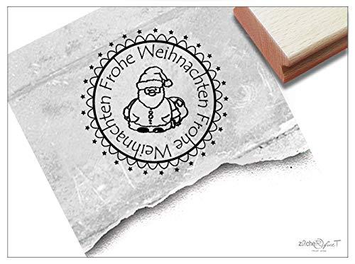 ZAcheR-fineT Kerststempel Kerstman - poststempel tekststempel kaarten cadeauhangers cadeau kerstdecoratie