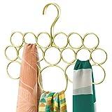 mDesign Percha para pañuelos - Organizador de pañuelos, chales, bufandas y más - Organizador de...