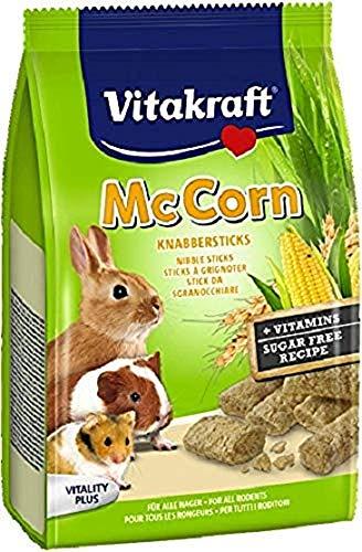 Vitakraft - Juego de golosinas de MacCorn para Todos los roedores, 50 g