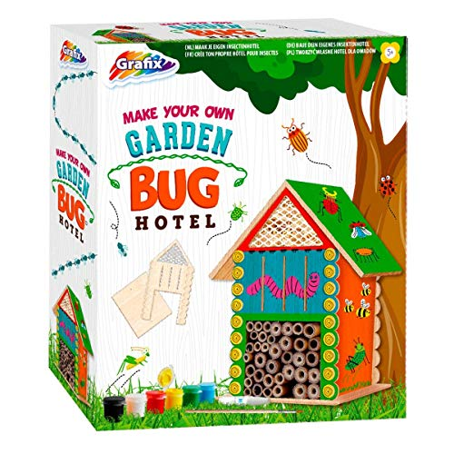 Grafix Make & Paint Your Own Garden Bug Hotel Childrens Building Outdoor Wildlife Craft Kit
