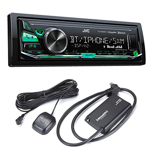 JVC KD-X340BTS Bluetooth in-Dash Digital Media Car Stereo w/Pandora & iHeartRadio Support with Sirius XM Tuner