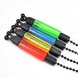 Swinger für Karpfenangeln, Angeln, mit Bissanzeiger, rot, gelb, blau, grün, 4 Stück, Multiple