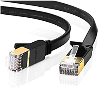 LC7476 EDIMAX Flat 3M Black Cat7 Patch Lead 10Gbe Edimax 3M in Length, Rj45 Connectors Prevent Cable Damage and Also Provi...