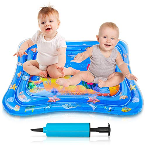 Tummy Time Mat, VIBIRIT Baby Water Play Mat Inflatable Kids Activity Center Juguetes educativos para niños pequeños Niñas 3 6 9 12 meses