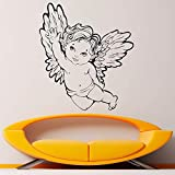 Angel Wings Adhesivo de Pared Baby Room Decoración Interior Accesorios42x37cm
