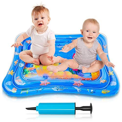Tummy Time Mat, VIBIRIT Baby Water Play Mat Inflatable Kids Activity Center Juguetes educativos para niños pequeños Niñas 3 6 9 12 meses