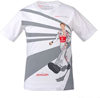 McLaren Vodafone Mercedes Jenson Button Cartoon Children T Shirt and Cap
