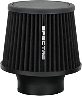 Spectre Universal Clamp-On Air Filter: High Performance, Washable Filter: Round Tapered; 3 in (76 mm) Flange ID; 6.5 in (1...