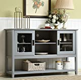Mixcept 55' Modern and Contemporary Sideboard Buffet Cabinet Wood...