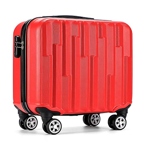 Adlereyire Trolley Suitcase Lightweight Durable Carry On Cabin Hand Luggage Set, Travel Bag with 4 Wheels (Color : Red, Size : 42cm)