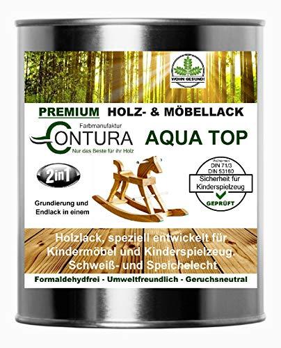 Lack für Kinderspielzeug und Kindermöbel DIN EN71/3 Speichelecht schweißecht Klarlack Möbellack Holzlack (MATT)