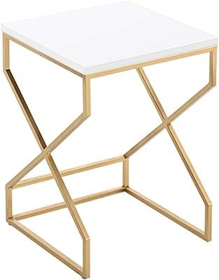 mesas de Centro Mesa de Centro Moderna de sofá de Oro Forjado de ...