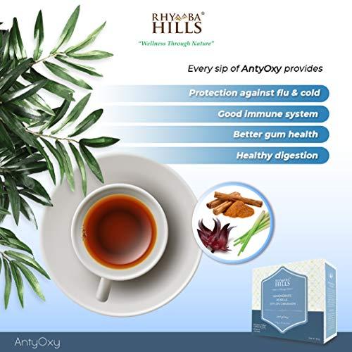 1 box Antyoxy (Lemongrass, Kaffir limes leaves, Superfood Tumeric, Roselle & Ceylon Cinnamon Tea Infusion) by Rhymba Hills Tea - Boost Immune System Rich in Antioxidant.