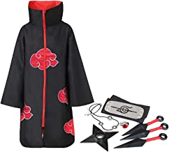 ExH Akatsuki kostuums, 8-delig, Akatsuki cape jas, cosplay, anime, naruto, akatsuki, Japanse anime, cape, cosplay, kostuu...