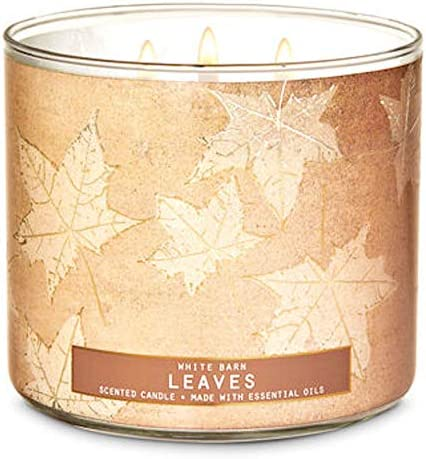 White Barn 2020 Bath Leaves 3 Wick Candle Apple Nectar Cloves Made W Essential Oils product image
