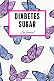 Diabetes Sugar Log Journal: Colorful butterfly / Daily Record Book for tracking blood, glucose, Sugar Level every day Total 53 Weeks / Before & After Breakfast, Lunch, Dinner, and Bedtime