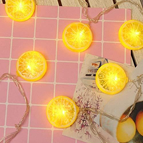 Guirnalda de luces LED de limón con 20 luces LED de 3 m para decoración de interiores y exteriores, hogar, dormitorio, pared, jardín, patio, decoración de fiestas