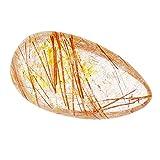 ERTERT Cristallo di Quarzo rutilato Oro, Pietra cristallina Naturale per energia positiva, Pace