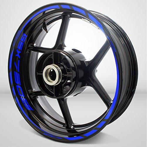 Azul Brillante Motocicleta Moto Llanta Decal Accesorio Pegatinas para Suzuki GSX 750ES