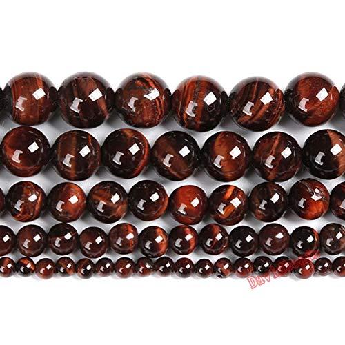 Precio de fábrica Piedra Natural Rojo Ojo de Tigre Agat Redondo Perlas...