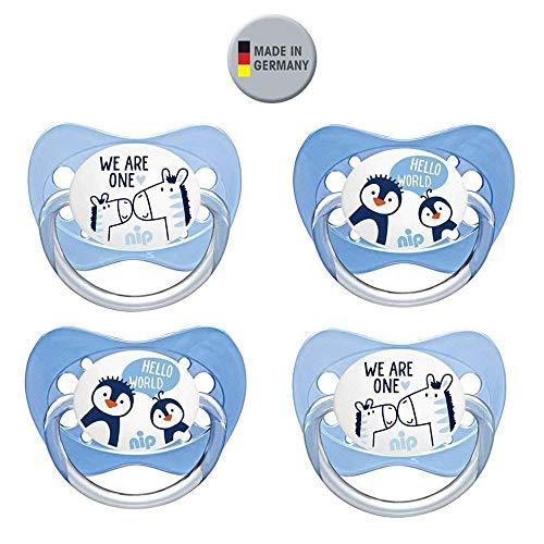 NIP Latex NaturLatex Schnuller 4 Stück Set Gr.1 0-6 Monate ab Geburt
