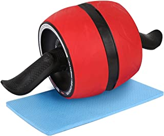 Ab Carver Wheel Roller - with Knee Pad Mat, Automatic Rebound and Multiple Angles Core Workouts