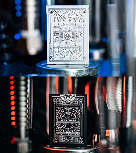 2 Cartes à Jouer Star Wars Silver Edition (Graphite Grey-White) Playing Cards by theory11