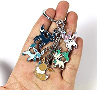 YOYOTOY Metal Keychain Leafeon Glaceon Pendants Figure Toys with Blister Card Toddler Must Haves Boy Gifts The Favourite Superhero Cake Topper Toy Unboxing