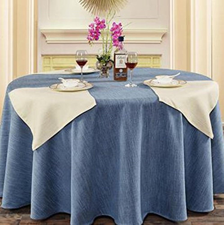 QPG Hotel Linen runde Tischdecke quadratische Tischdecke Tischdecke Kaffee Tischdecke Abdeckung Tuch reine Farbe Elegance Retro Verdickung undurchsichtig ( Farbe   A4 , gre   280cm )