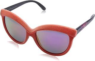 نظارة شمس بعدسات شكل عين القطة ارجواني وشنبر قطيفة للنساء من ايطاليا انديبندنت - برتقالي