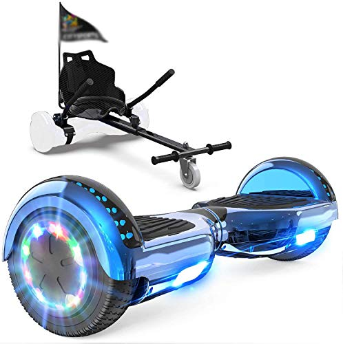 Skateboarden, Skateboards und Roller, Selbst-Balancing Elektroroller Bluetooth-Lautsprecher,Black