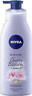 NIVEA Body Lotion, Oil in Lotion Cherry Blossom & Jojoba Oil, 400ml