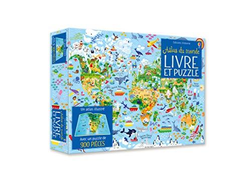 Coffret Atlas du monde (Livre + puzzle de 300 pièces)