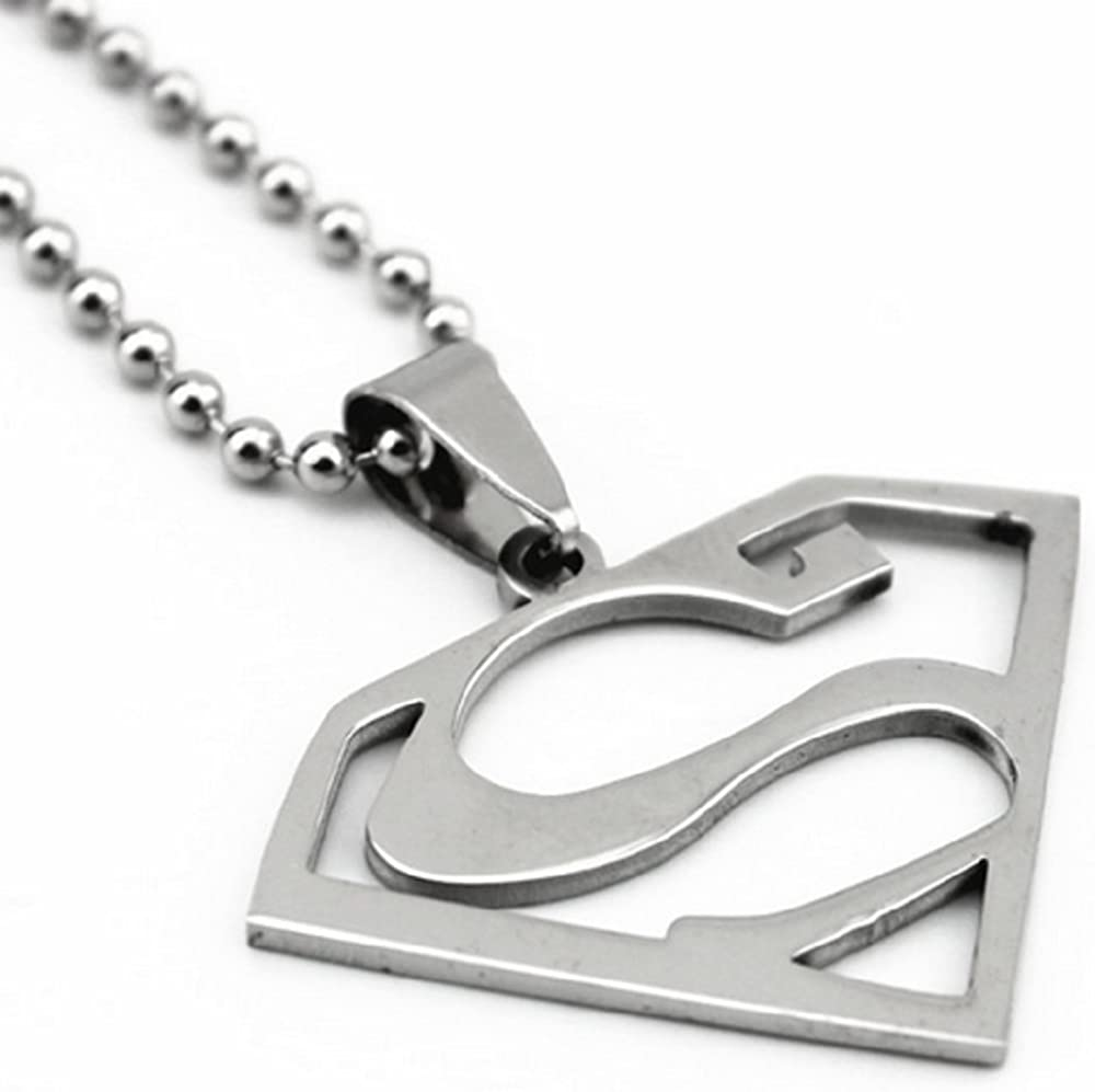 Yippo Accessories Superman Logo Stainless Steel Pendant w/ 30