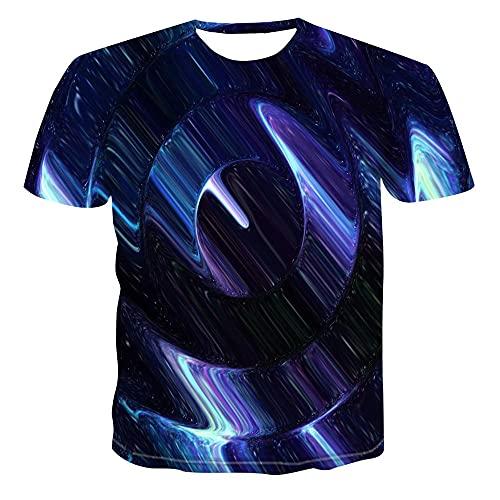 N\P Impresión Personalizada Reloj Geometría Camiseta Calle
