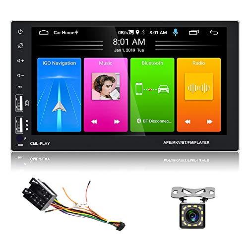 2 Din Android Autoradio Navigazione GPS Lettore stereo da 7 pollici Touch Screen a piena capacità Ricevitore Bluetooth WIFI FM 3USB + Telecamera di backup