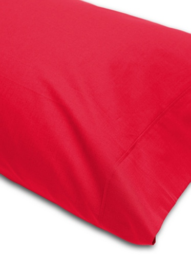 Abecé Casa Funda de Almohada Lisa Rojo Vivo Cama 105 (45 x 125 cm)