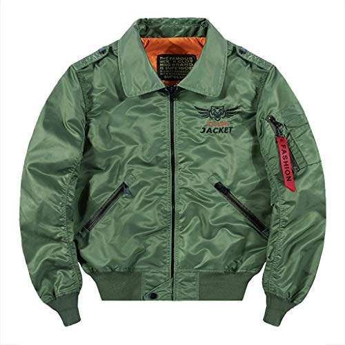 MAYOGO Herren Regenjacke Windbreaker Outdoor Jacke Funktionsjacke Arbeitskleidung Bikerjacke Motorradjacke Sweatjacke mit Zip Tasche (Armeegrün, XL)