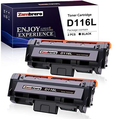 Zambrero Compatibile Toner MLT-D116L Sostituzione per MLT-D116L MLT-D116S Toner per Samsung Xpress SL-M2835DW SL-M2675 SL-M2625D SL-M2675FN SL-M2875FD SL-M2885FW SL-M2825ND SL-M2625 M2825DW (2 Nero)
