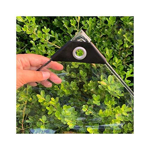 GDMING Lona Transparente, Tarea Pesada Impermeable Espesar PE Lámina De Plástico con Ojales para Al Aire Libre Impermeable Cortina, 49 Tamaños (Color : Claro, Size : 2x4m)