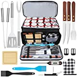 AISITIN Kit Barbecue Ustensiles Barbecue Acier Inoxydable Accessoire Barbecue avec Sac Isotherme pour Homme Femme Camping Barbecue