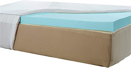 Nature's Sleep AirCool IQ Twin Extra Long Size 2.5 Inch Thick 3lb Density Gel Memory Foam Mattress Topper with Microfiber Fitted Cover and 18 Inch Skirt