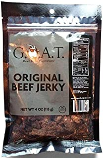 The G.O.A.T. Beef Jerky, Handcrafted Original Flavor, 4 ounce bag