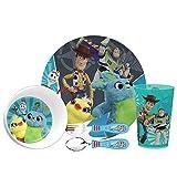 Zak Designs Toy Story 4 Movie Dinnerware Set, Buzz, Woody and Friends, 5-piece set